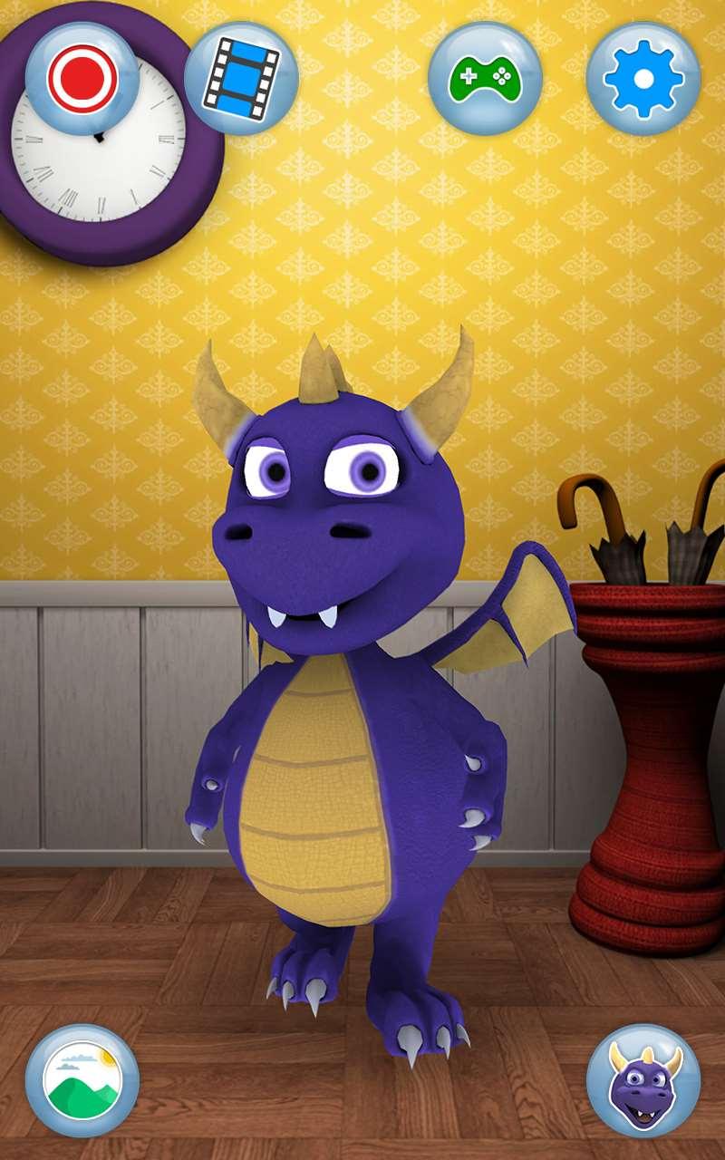 talking dragon iphone and ipad talking animal game for kids