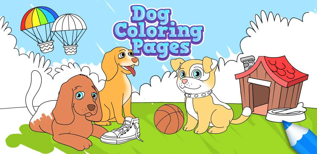 Dog Coloring Pages for Kids Free Android iPhone iPad app