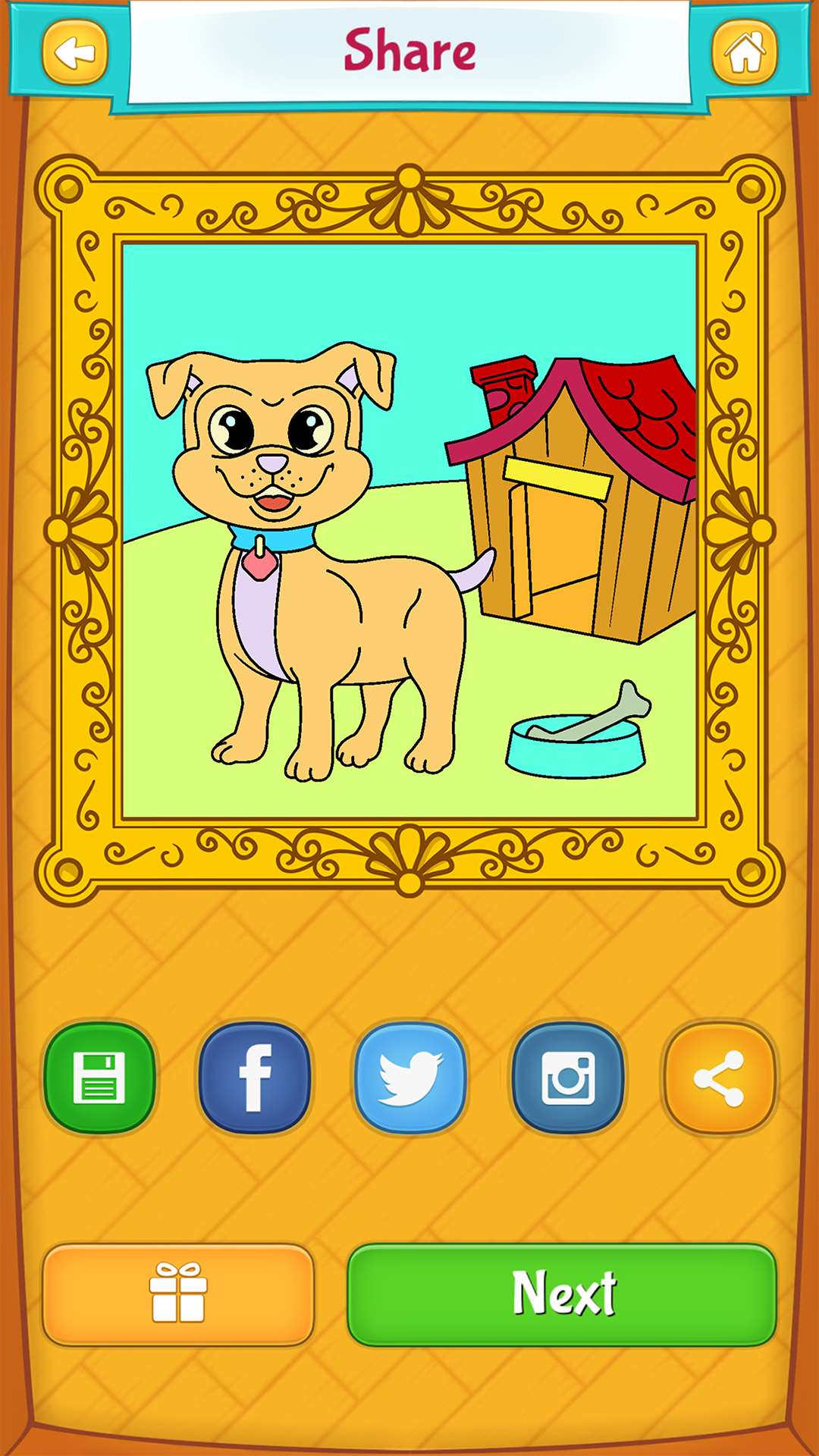 dog coloring pages for kids free android iphone u0026 ipad app