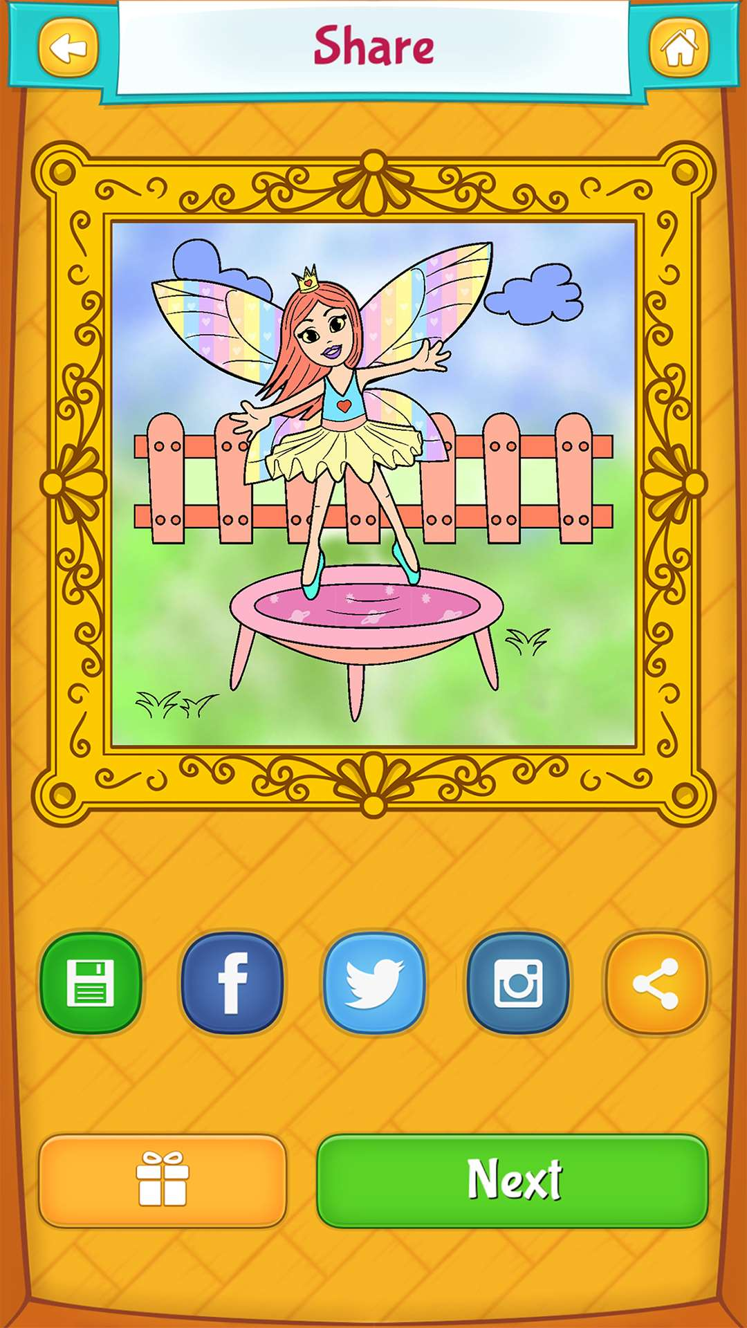 fairy coloring pages for kids free android ipad u0026 iphone app