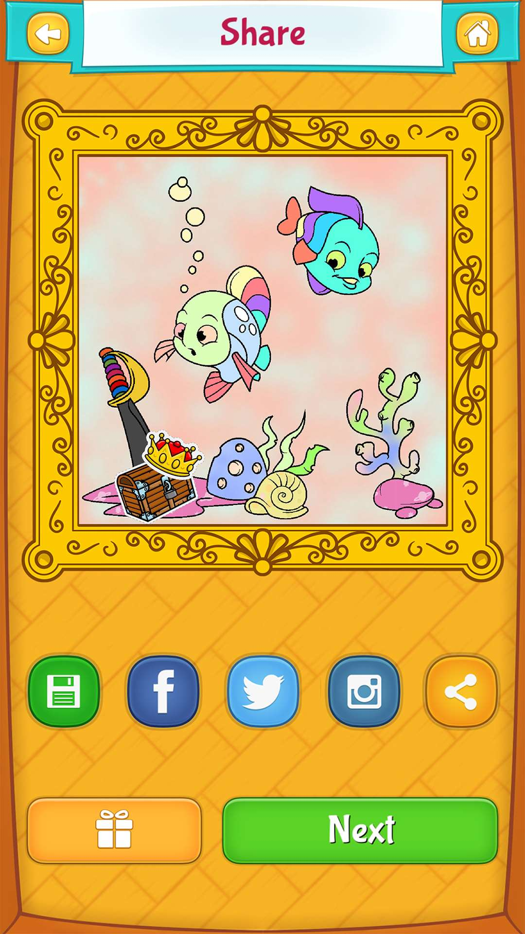 Fish Coloring Pages - Free Android, iPhone/iPad app for kids