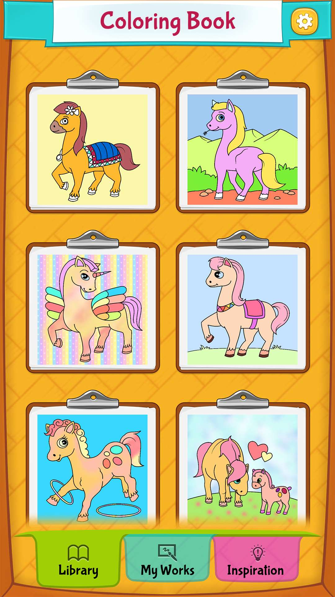 Horse Coloring Pages - Android, iPhone/iPad & Windows ...