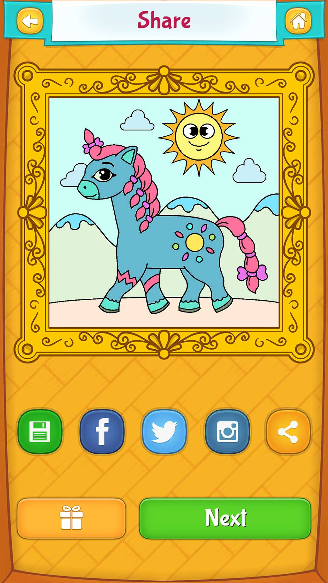 horse coloring pages android iphone ipad u0026 windows phone app