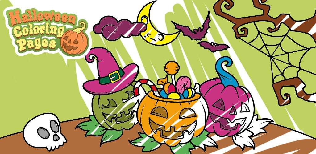 Игры на хэллоуин раскраски 186