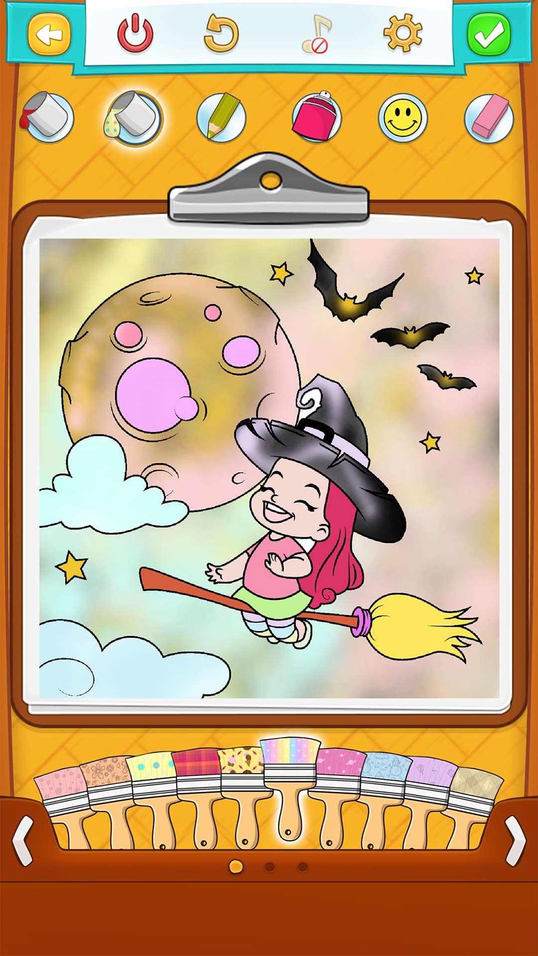 Игры на хэллоуин раскраски 152