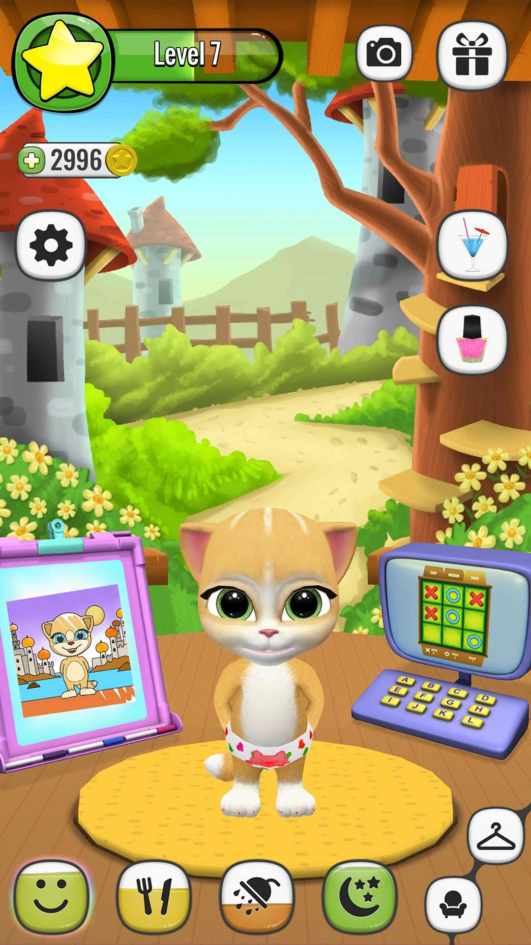 emma the cat virtual pet games for android ios and windows phone. Black Bedroom Furniture Sets. Home Design Ideas