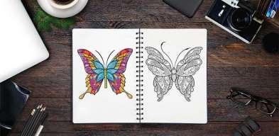 Adult Butterfly Coloring Pages, Бабочки Раскраски Для Взрослых, Coloriage Papillon pour Adulte, Farfalle da Colorare Adulti, Borboleta para Colorir Adultos, Leptir Bojanke za Odrasle