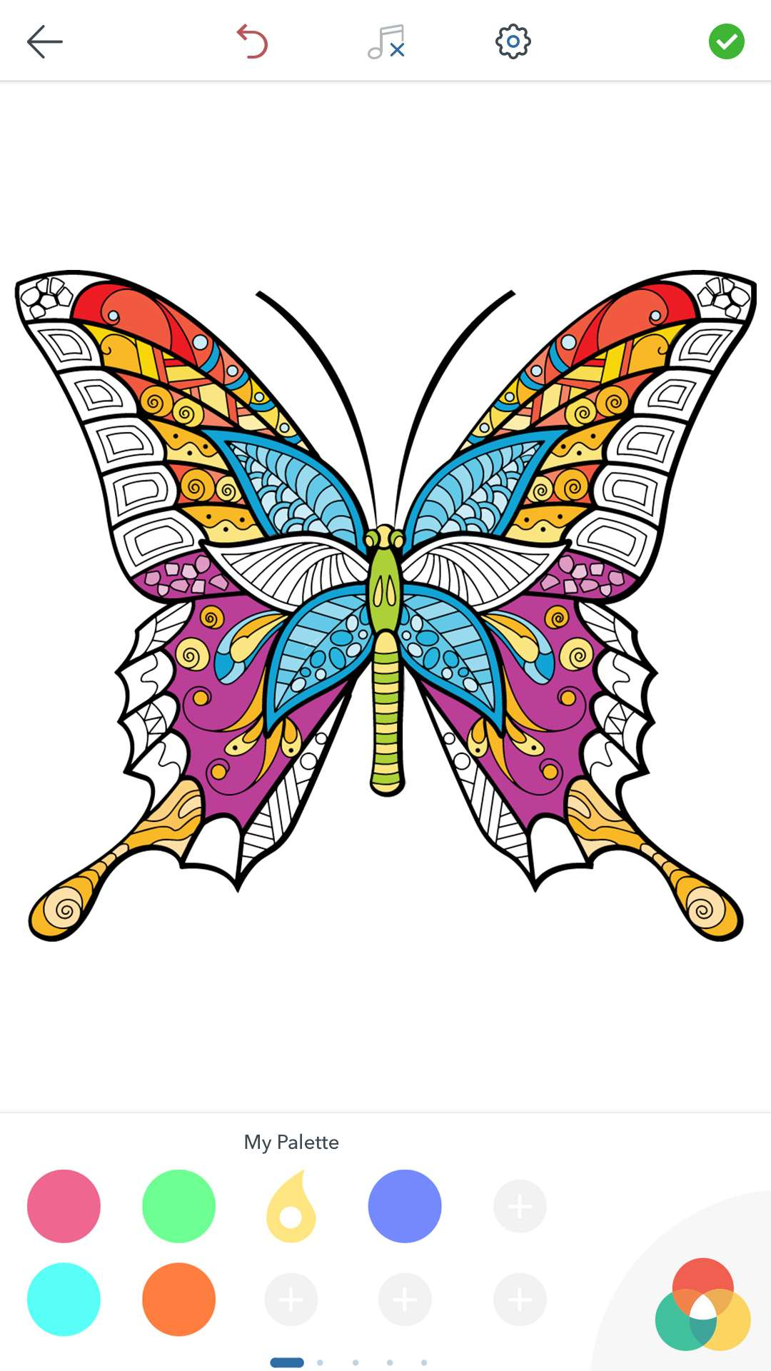 Butterfly coloring page symmetry -  Adult Butterfly Coloring Pages