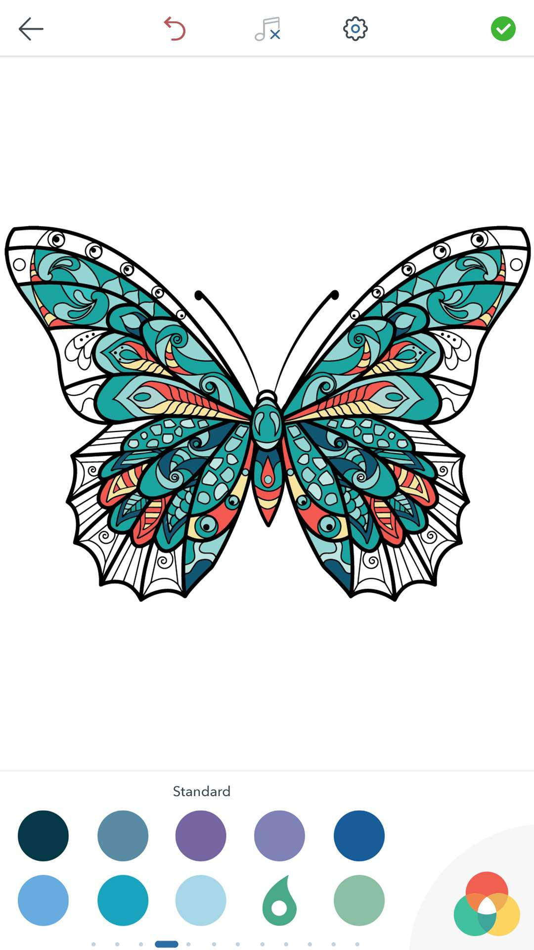Adult Butterfly Coloring Pages for Android, iOS and ...