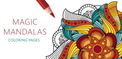 Magic Mandalas, Coloriage Mandala Magique, Mandala Magica, Волшебная Мандала Раскраска, Mandalas Mágicas, Čarobna Mandala Bojanka