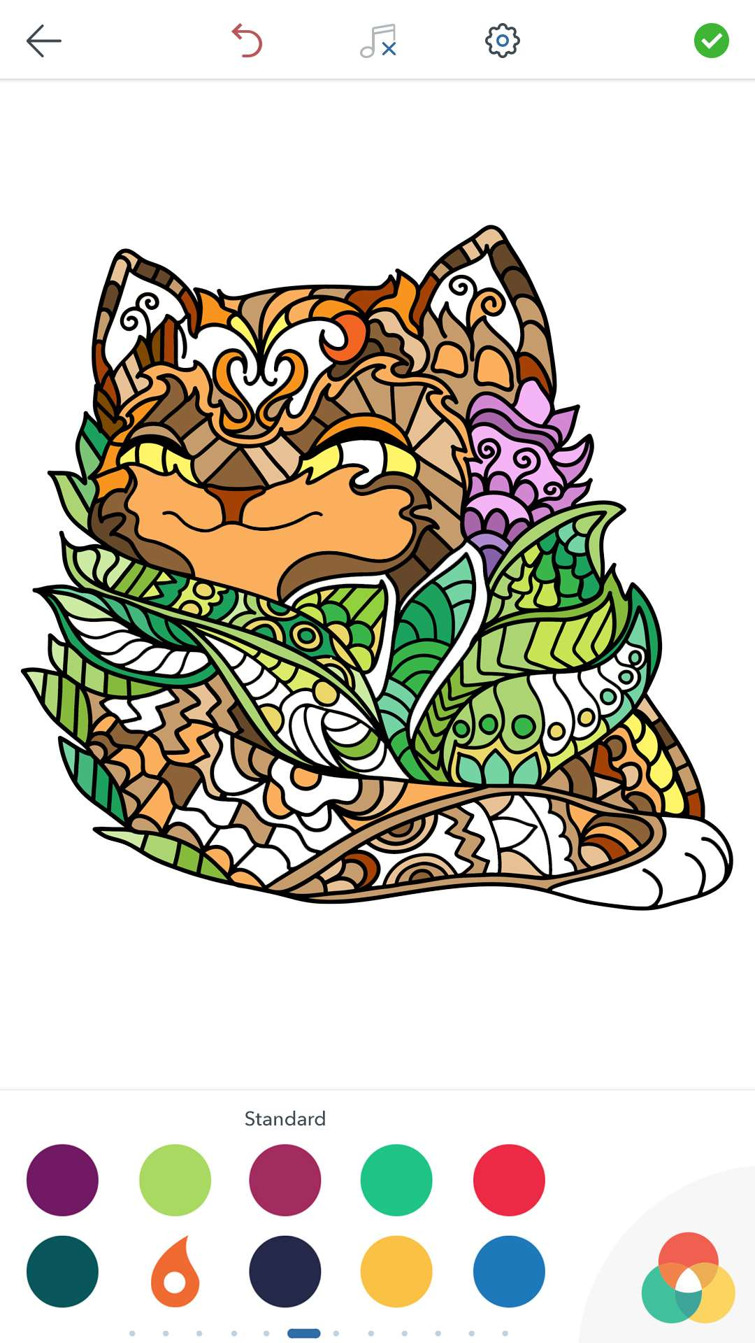 Cat Coloring Pages for Adults Free for Android, iOS and Windows Phone