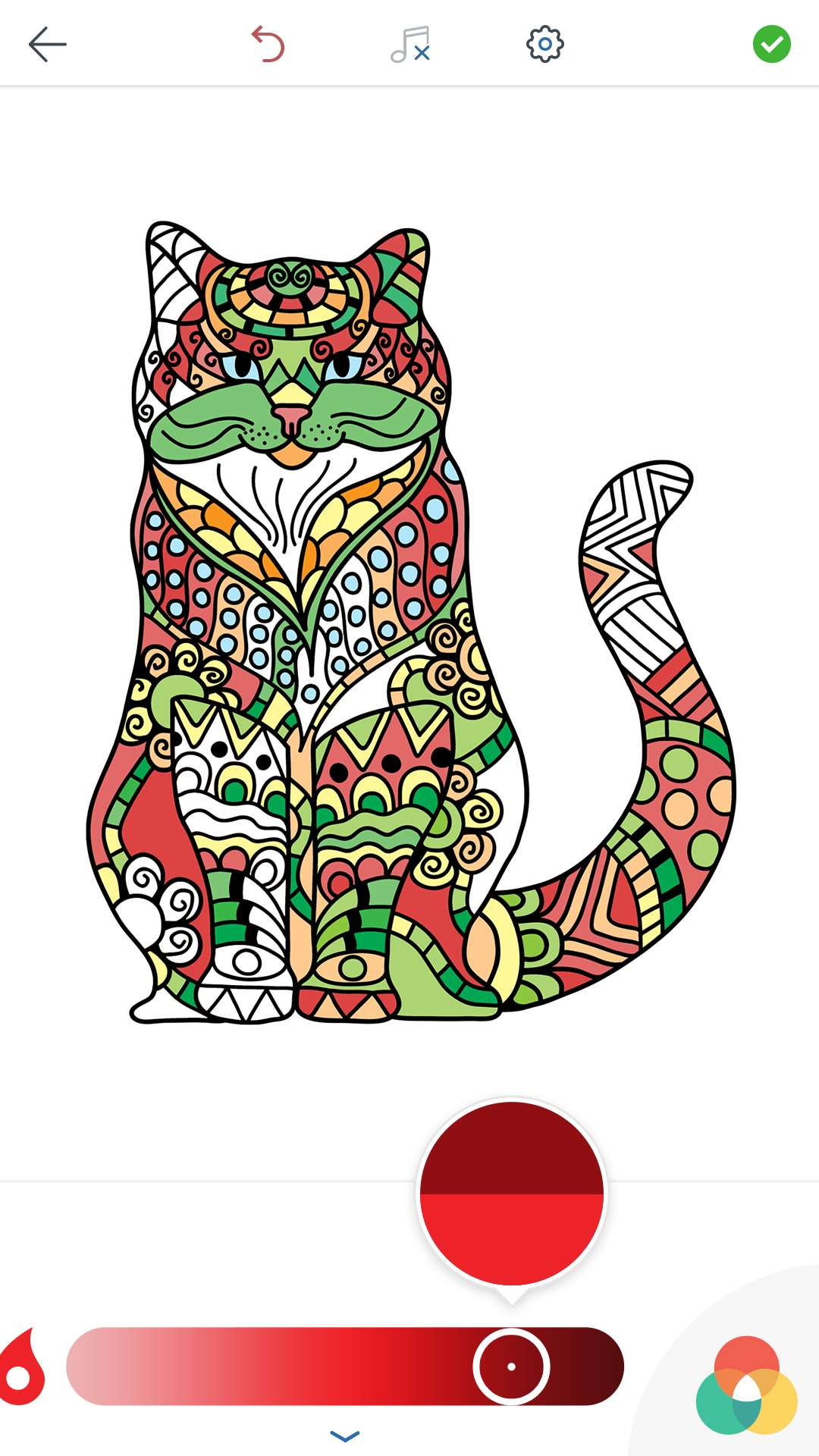 Cat coloring pages for adults free for android ios and Coloring book for adults android