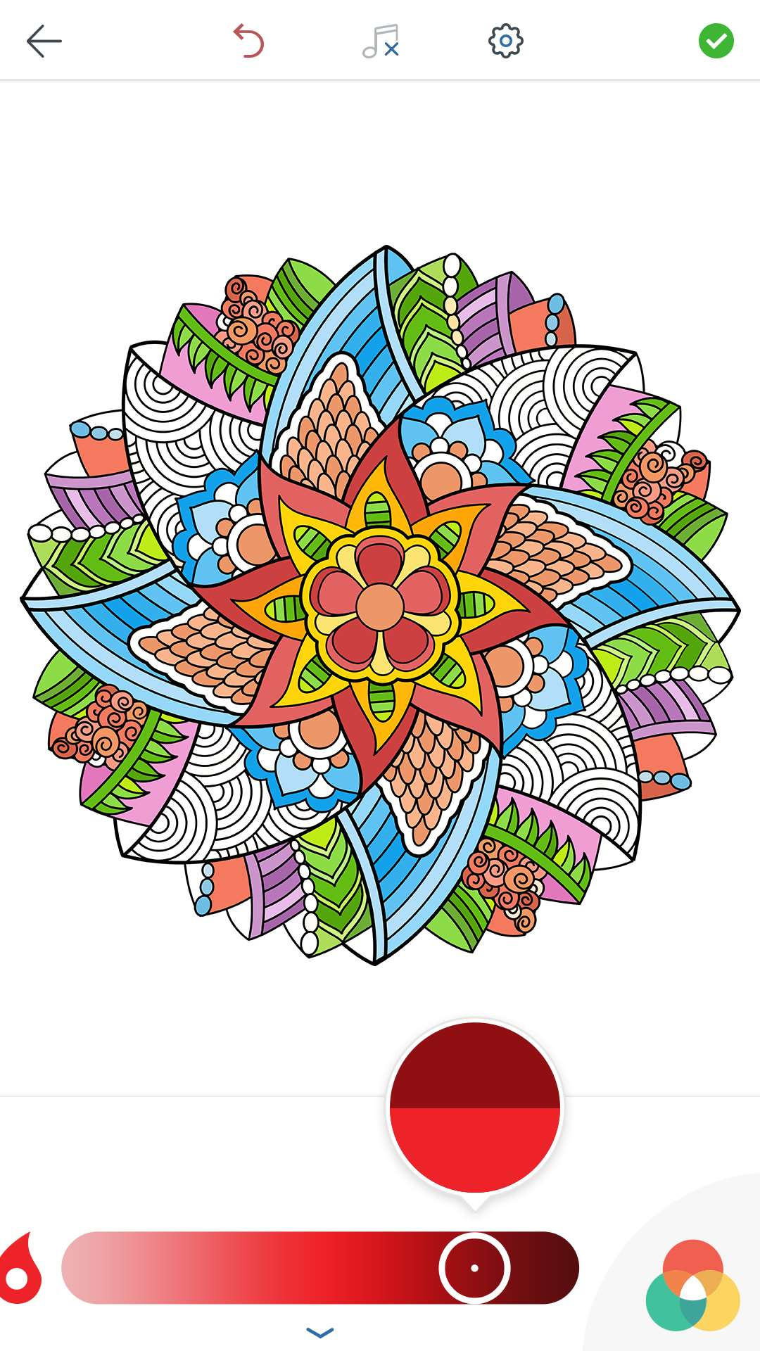Mystical mandala coloring pages - More