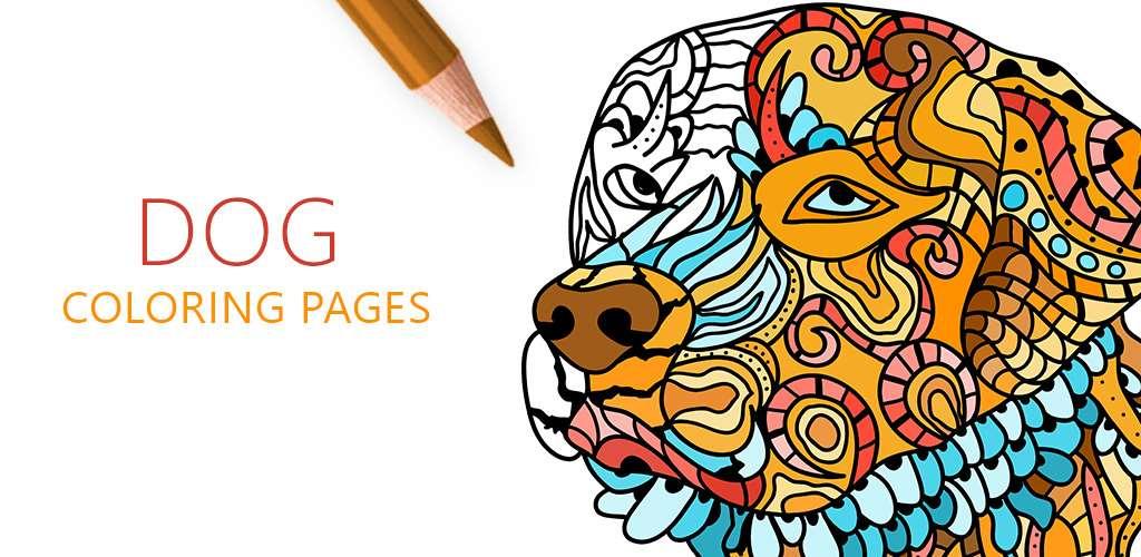 Dog Coloring Pages for Adults, Раскраски Собаки для Взрослых, Coloriage de Chien pour Adulte, Cani da Colorare per Adulti, Pas Bojanka za Odrasle, Desenhos de Cachorro de Pintar