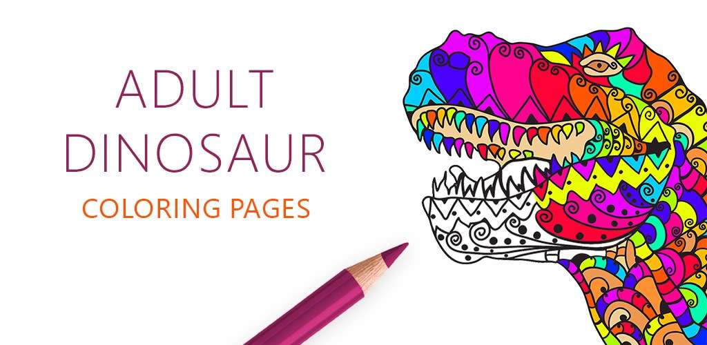 Adult Dinosaur Coloring Pages for
