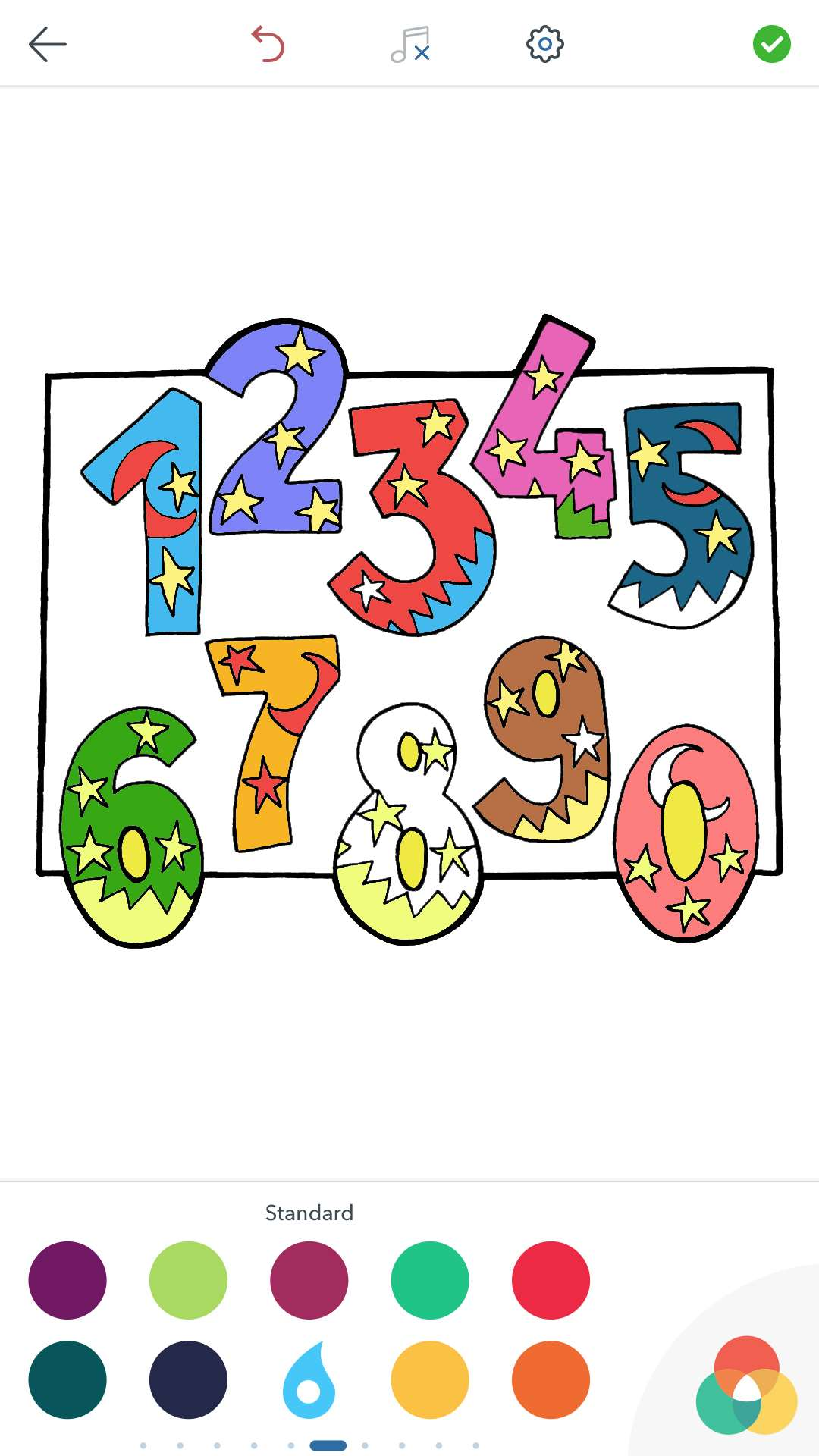 Numbers Coloring Pages for Adults Free for Android and iOS