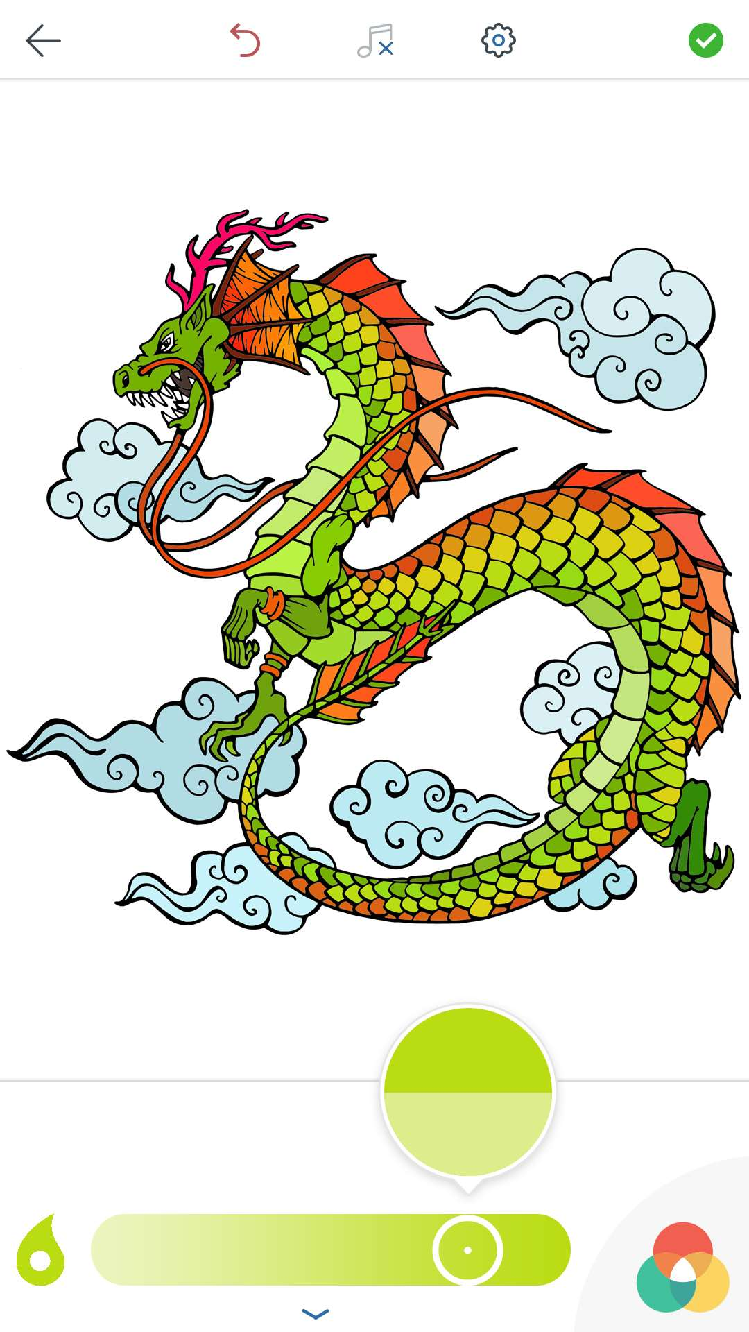 Korean Coloring Book for Adults for Android and iOS